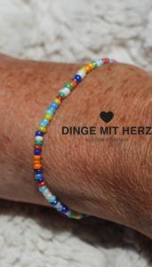 DINGE MIT HERZ Armband MICRO bunt