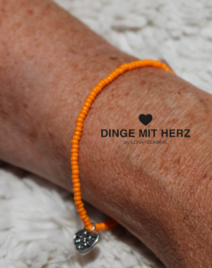 DINGE MIT HERZ Armband MICRO orange matt