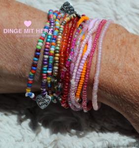 DINGE-MIT-HERZ Armband Mini viele Farben