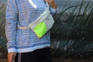 Dinge mit Herz Body Bag Bauchtasche Masrupio weiß gelb