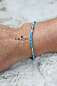 DINGE MIT HERZ Armband MINI Muster türkis verschiedene