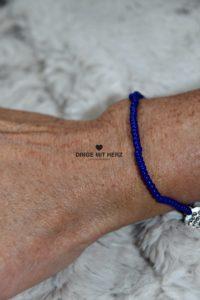 DINGE MIT HERZ Armband MINI royalblau
