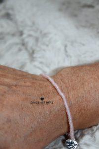 Dinge mit Herz rosa zartrosa Armband Miniperlen ice frosted