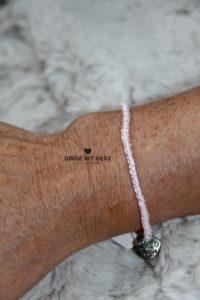 DINGE MIT HERZ Armband MINI zartrosa transpartent schimmernd