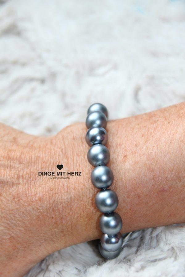 DINGE MIT HERZ Armband Sommer Sale dunklegrau schwarz weiß hellgrau groß