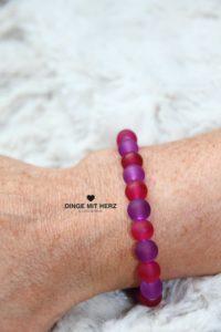DINGE MIT HERZ Armband Sommer Sale pink lila