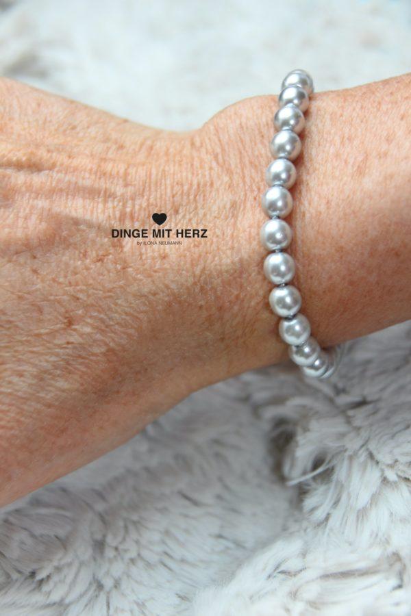 DINGE MIT HERZ Armband Sommer Sale silber hellgrau