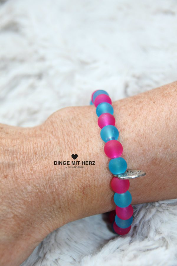 DINGE MIT HERZ Armband Sommer Sale türkis pink