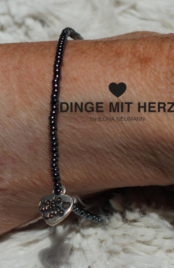 DINGE MIT HERZ MICRO Armband anthrazit