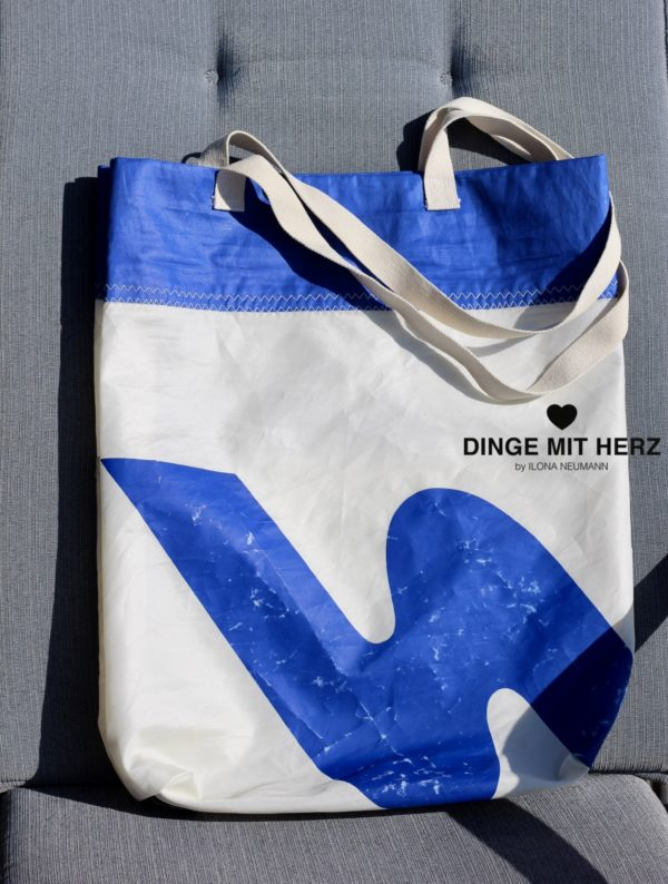 Dinge-mit-Herz Segel gesegeltes Segel Tasche Shopper