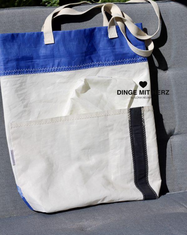 Dinge mit Herz Tasche Shopper gesegeltes Segel