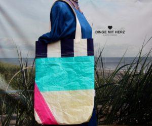 Dinge mit Herz Shopper große Tasche gesegeltes Segel