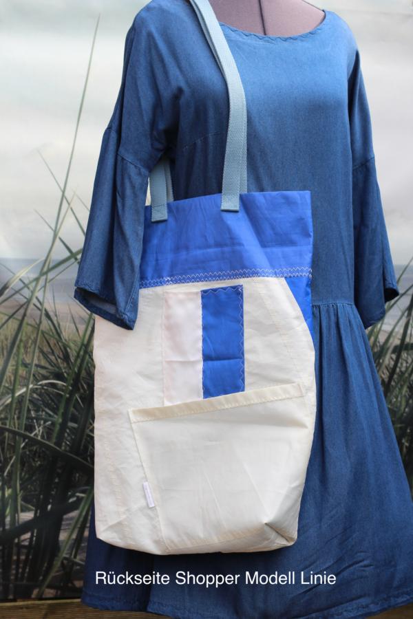 DINGE MIT HERZ Shopper Modell Linie Tasche aus gesegeltem Segel