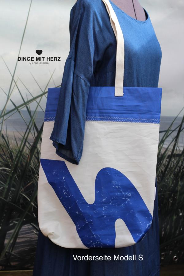 DINGE MIT HERZ Shopper Modell S Tasche aus gesegeltem Segel